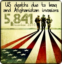 American fallen soldiers in Iraq and Afghanistan